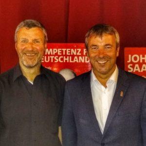 Axel Stange, Norderneyer Kandidat für den Kreistag im Gespräch mit MdB Johann Satthoff